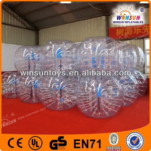 1.7m TPU human body zorb football bubble soccer inflatable ball suit