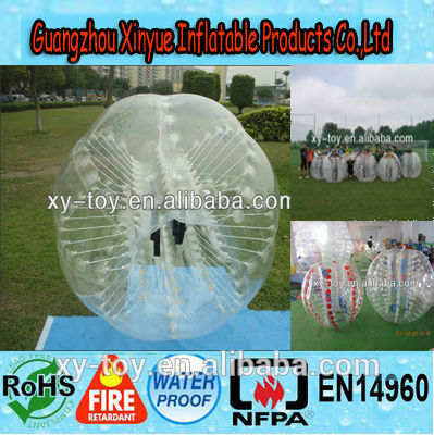 Inflatable human bubble ball,crazy loopyballs,inflatable soccer bubble,body zorbing ball