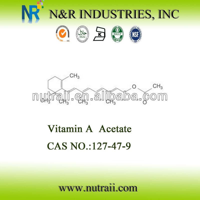 High quality CAS#127-47-9 Vitamin A Acetate (IU/g) 325,000