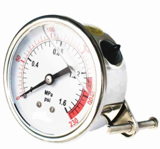 Coconut Oil Filled Pressure Gauge for Water Treatment