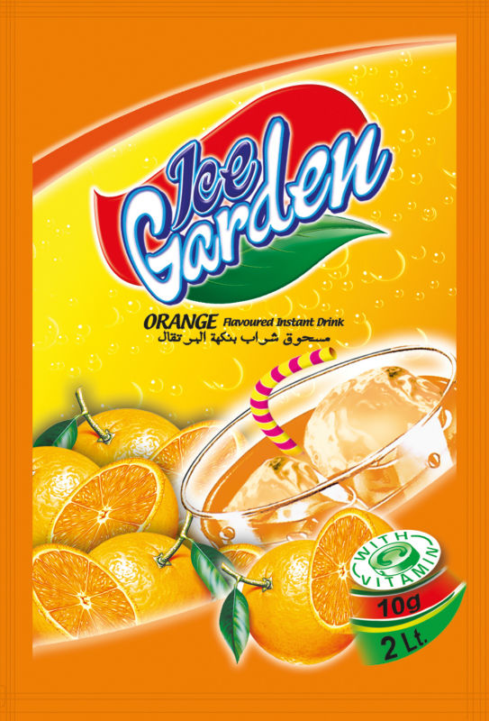 Product Instant Gardens : Ice garden instant powder drink orange flavour products
