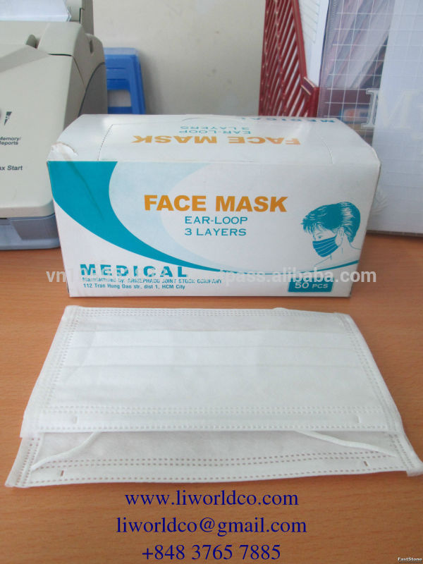 Mask Face Disposable ear-loop Mask Products 3ply Surgical