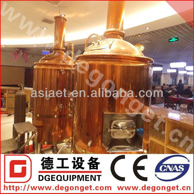 Hotel mini red copper brewery equipment