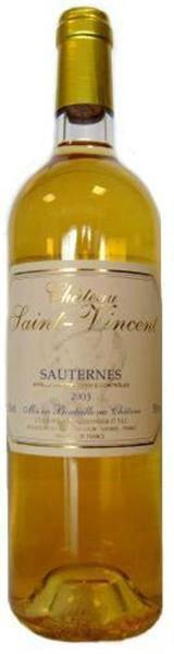 Chateau Saint Vincent Sauternes AOC ( French Sweet WInes )