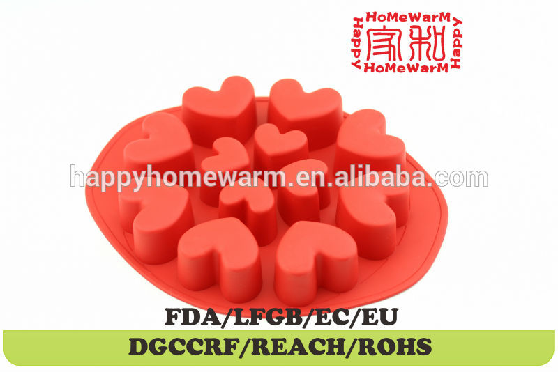 heart shape chocolate box mould Chocolate Muffin Cup Cake Candy Ice Tray Mold Mold Maker Party Bar
