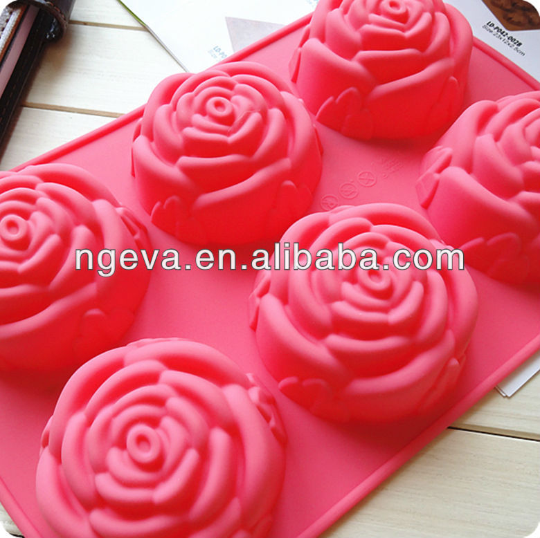 Rose silicon 3d cake decoration mold products china rose for 3d printer cake decoration