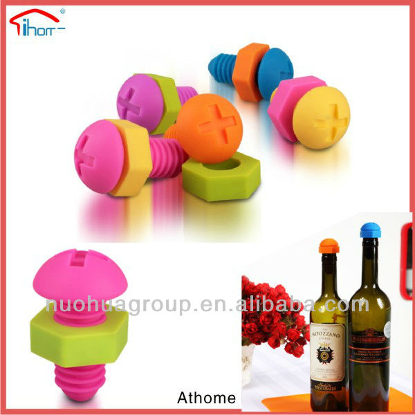 funny food grade standard bottle silicone valve for cover