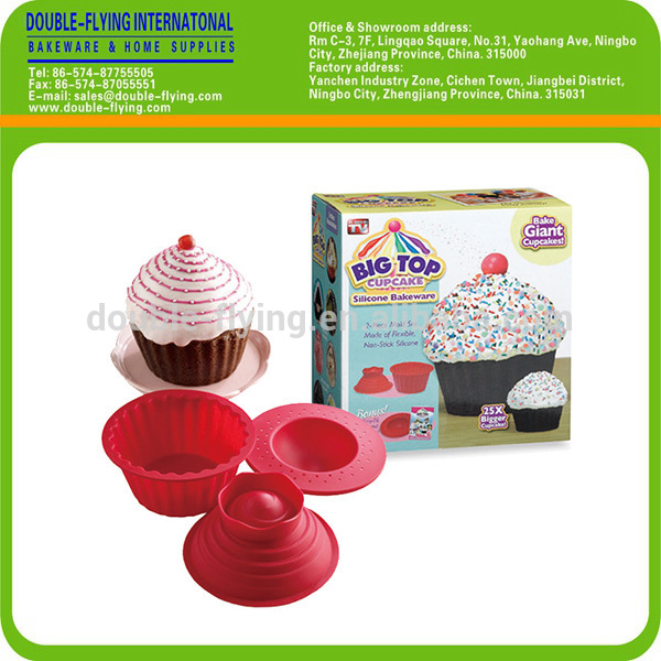big top cupcake silicone bakeware instructions