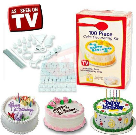 As seen on tv 100pcs cake decorating kit cake tools cake for 100 piece cake decoration kit