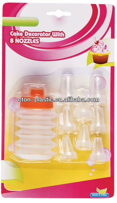 9pc deluxe cup cake decorating set
