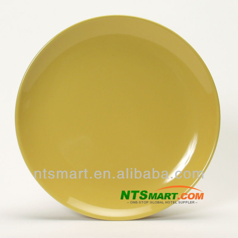 Restaurant durable paint porcelain plate saffron yellow for Saffron yellow paint color