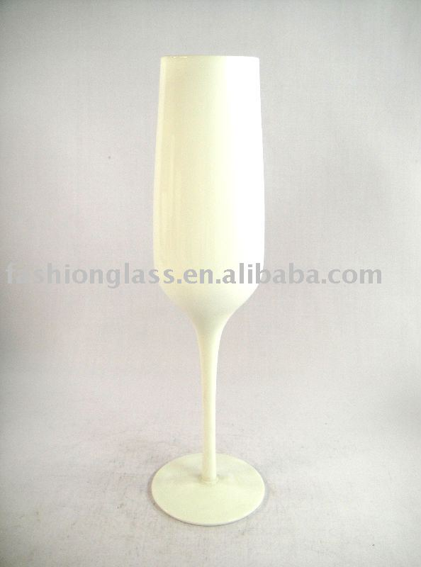 White Colored Champagne Glass Products China White Colored