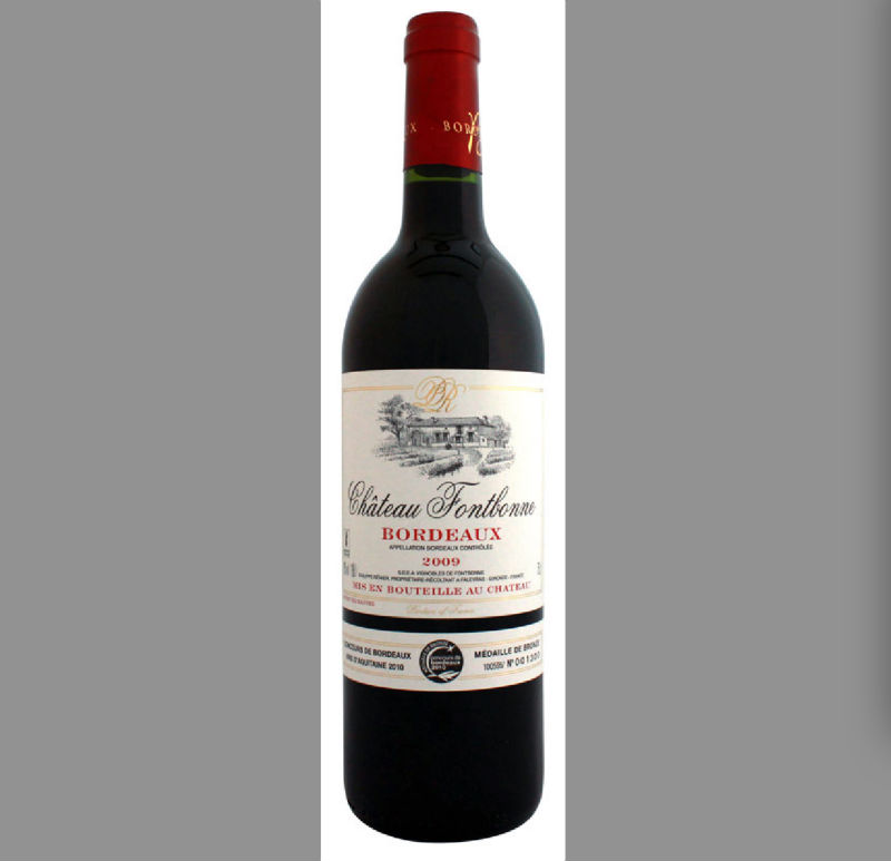 AOC Bordeaux wine---CHATEAU FONTBONNE from France , AOC Bord