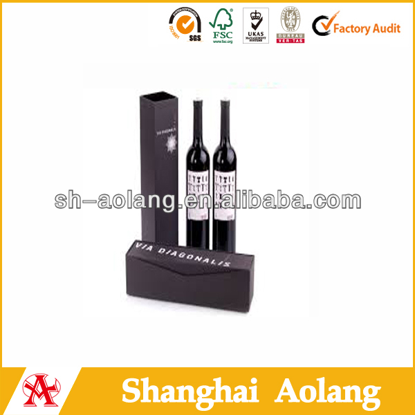 China Top Red Wine Brands Packaging For One Bottle Glass