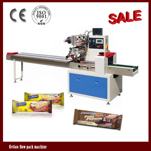 Pillow small bar chocolate packing machines from china for Food bar packaging machine
