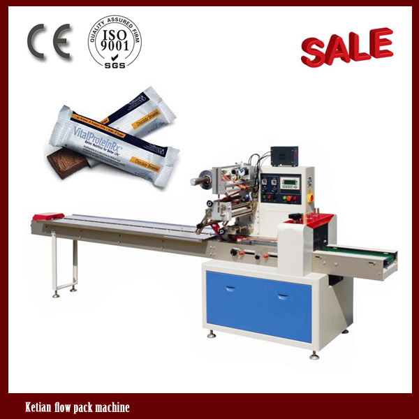 Ketian chocolate bar pillow packaging machines from china for Food bar packaging machine