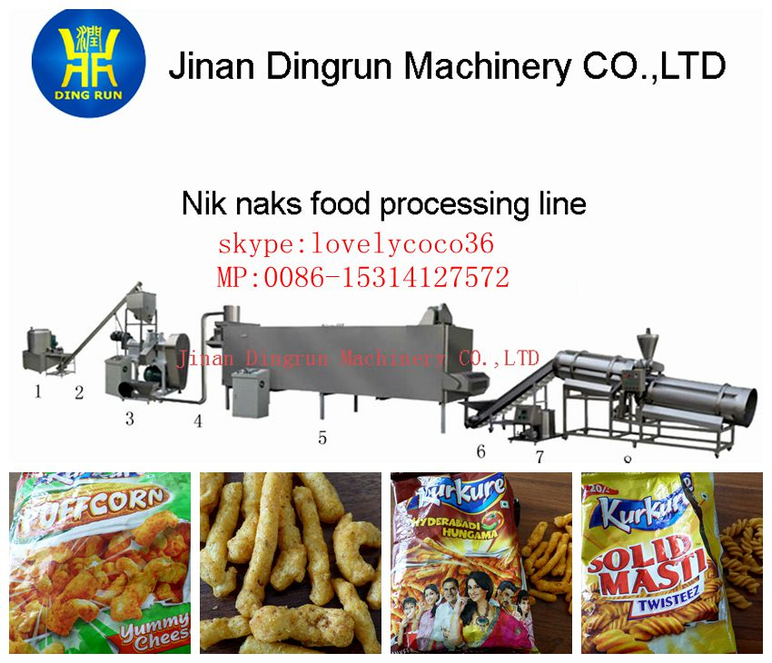 2014 Snack Application Kurkure making machine