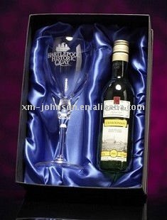 Single Champagne with one Flute glass gift box