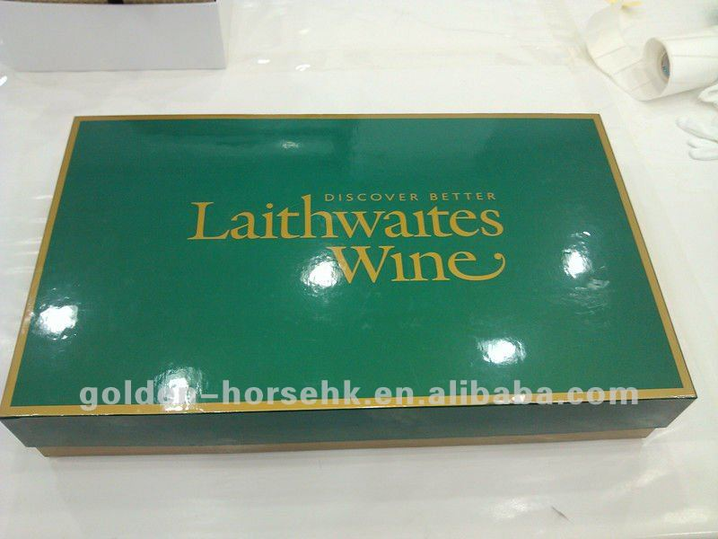 2012 packaging paper box for red wine,6 bottles wine box