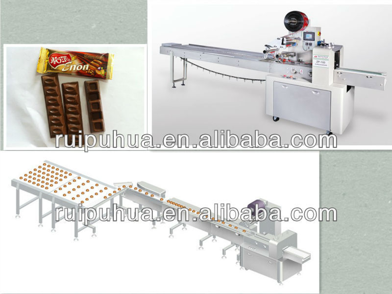 Chocolate bar automatic feeding and packaging machine for Food bar packaging machine