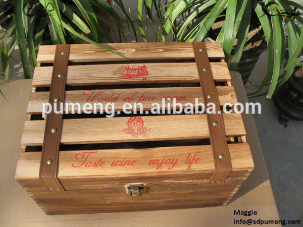 Cheap antique wooden crate box for sale printed with for Vintage crates cheap