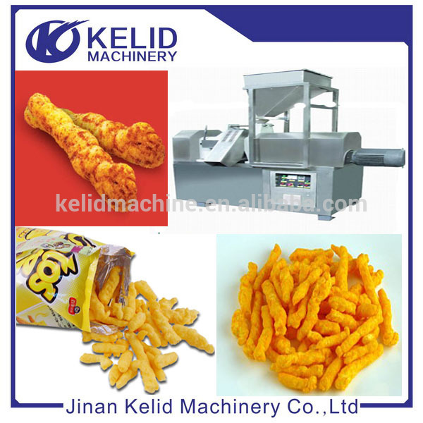 Corn Curls kurkure cheese snack food processing line