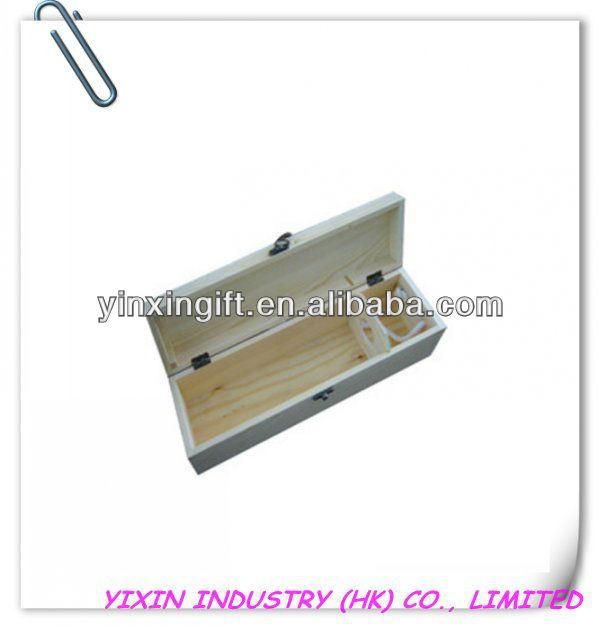 2014 Handmade Pine wood red wine box for packing YIXING1086