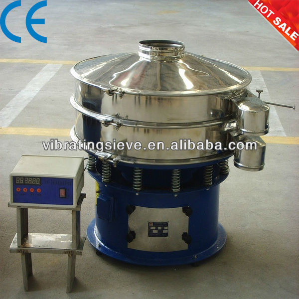 Ultrasonic cleaning sifter for cocoa powder