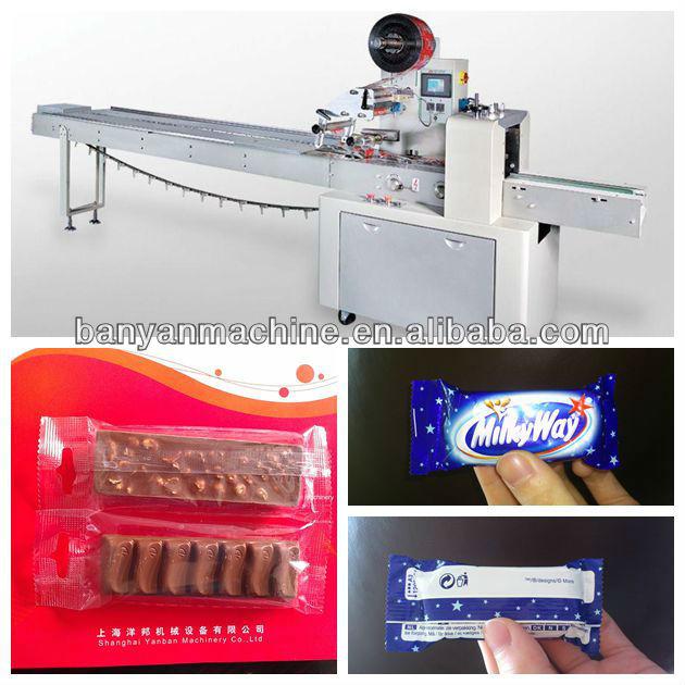 Yb 100 horizontal automatic chocolate bar packing machine for Food bar packaging machine