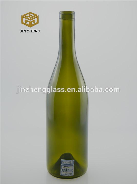 Wholesale 750ml green champagne glass wine bottles from for Green glass wine bottles