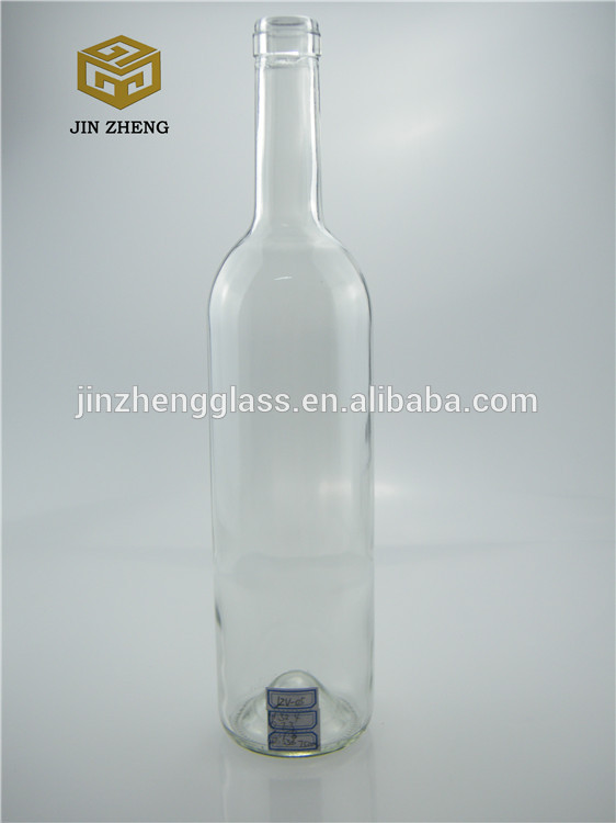 750ml 25oz empty clear red wine glass bottle white for Red glass wine bottles suppliers