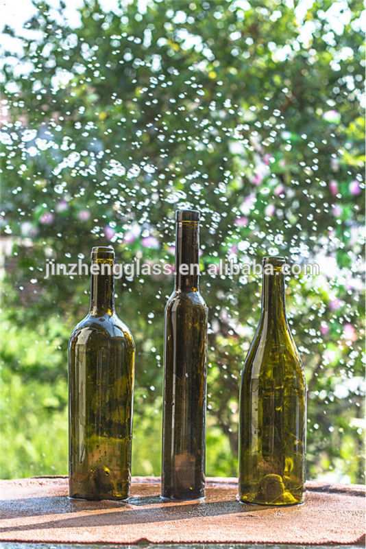 Green red wine glass bottles factory products china green for Red glass wine bottles suppliers