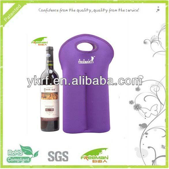 Neoprene 2 pack red wine bottle bag