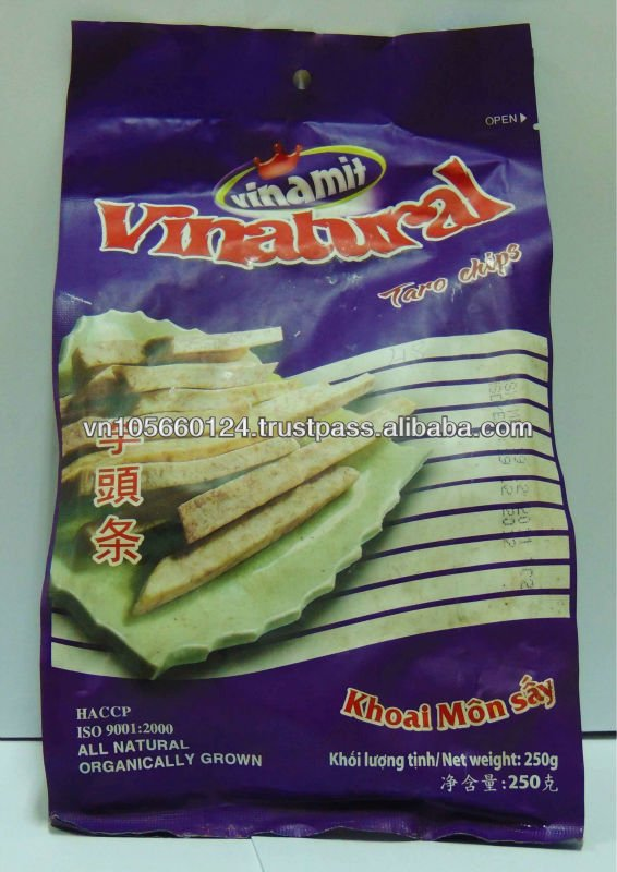 Taro crisps