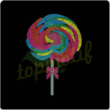 Neon color lollipop korean rhinestones motif wholesale for for Neon colored t shirts wholesale