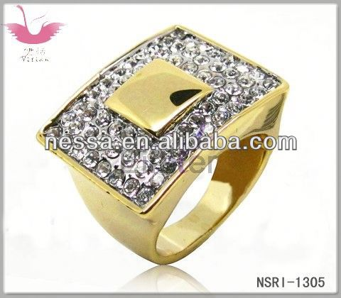 Ethnic style high studded rhinestone fashion rings with ivory white and champagne pearls