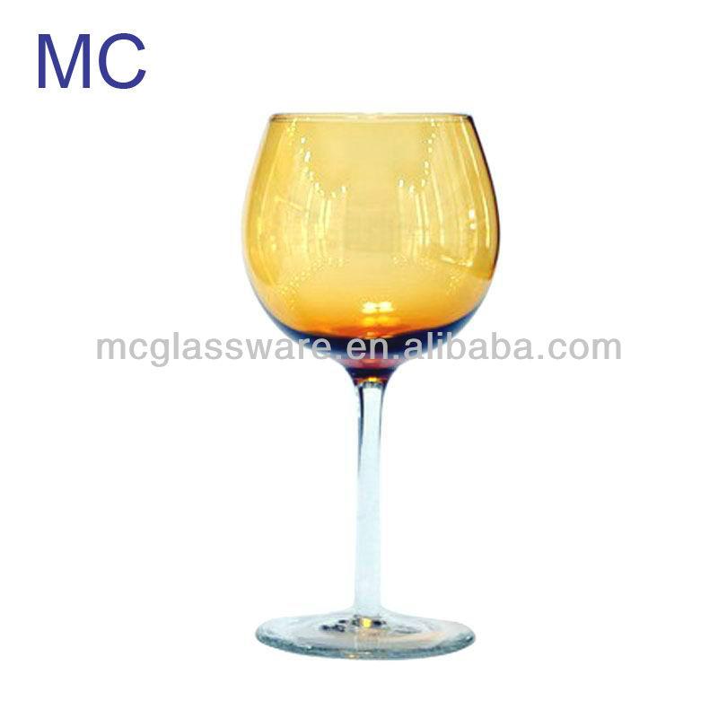 Handmade Colored Red Wine Glass Products China Handmade
