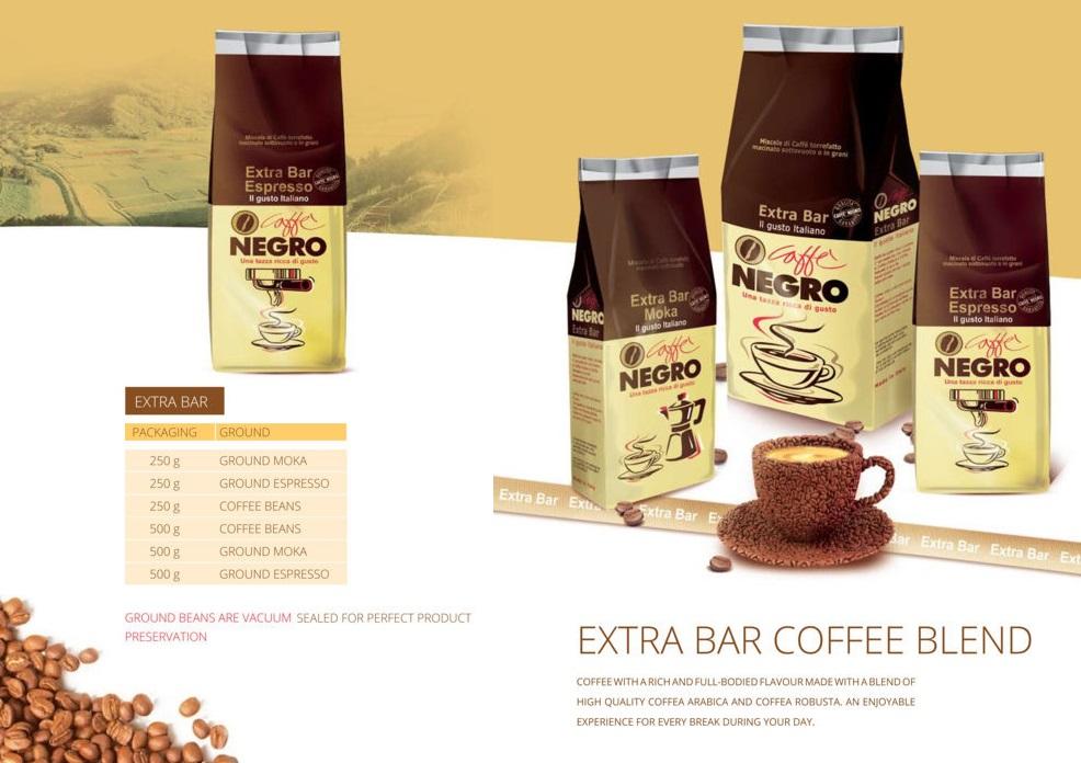 English In Italian: Original Italian Coffee Brand Caffe Negro Products,Italy