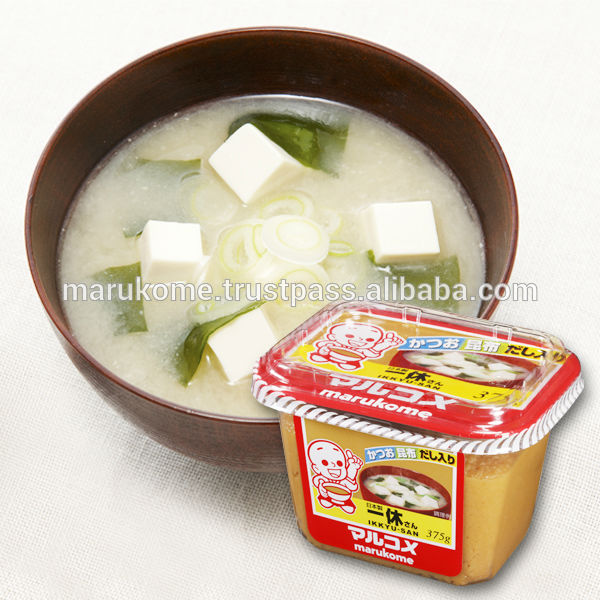 High quality miso matches with dashi bonito soup made in Japan and used in japan