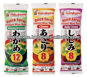 High quality instant miso soup containing dashi of bonito and kombu seaweed
