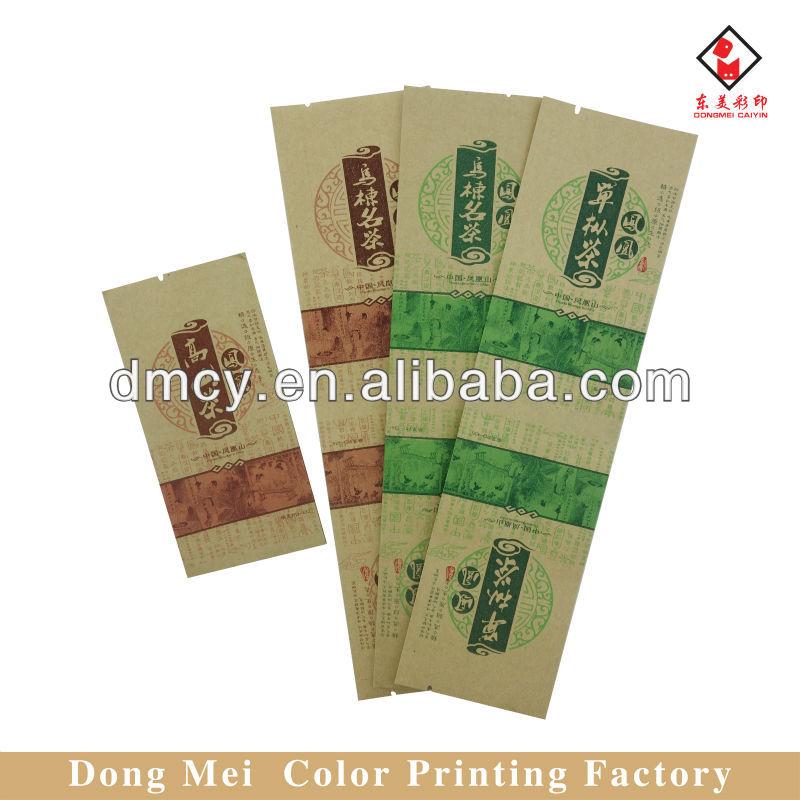 Kraft paper tea bag packaging