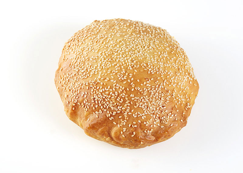 Rounded double Ham & Kaseri Type Cheese Bagel