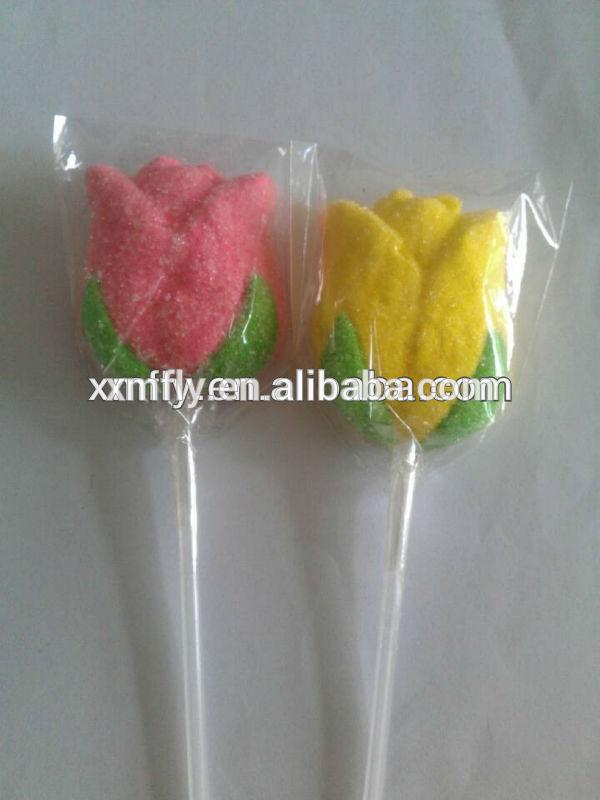 Christmas Gift Marshmallow Lollipop Candy Flower Rose