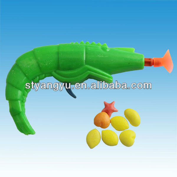 Lobster Gun toy with candy
