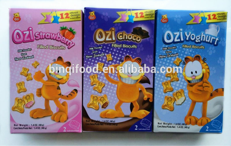 40g Ozi Garfield Cream Filled Biscuits-New Design-Key Chains Limited Edition products,China 40g Ozi Garfield Cream Filled Biscuits-New Design
