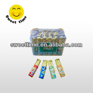 Bottle with handlebar syrup liquid spray candy
