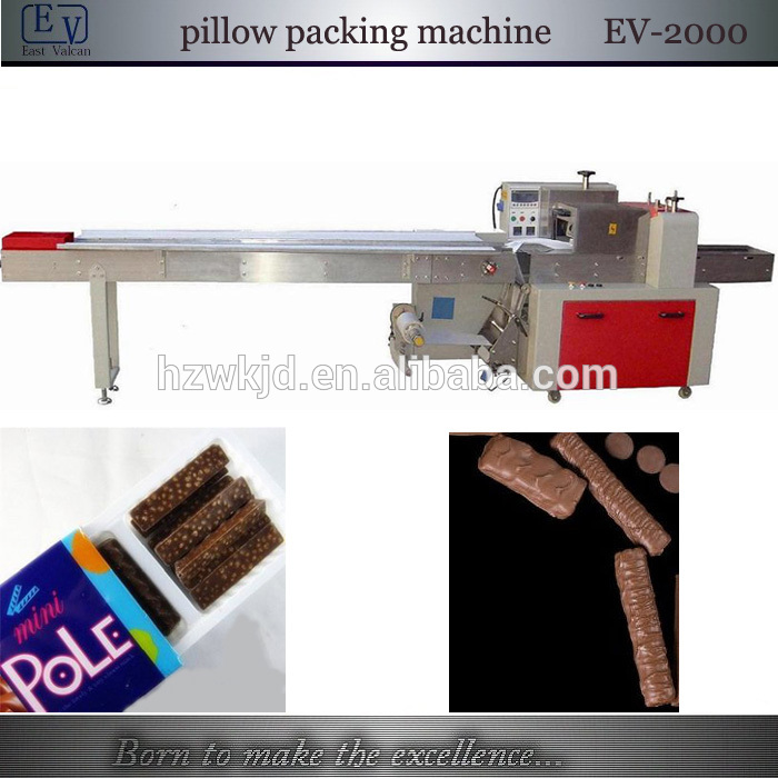 Automatic chocolate bar horizontal packing machine from for Food bar packaging machine