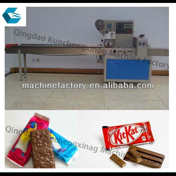 Automatic milk chocolate bar packing machine products for Food bar packaging machine