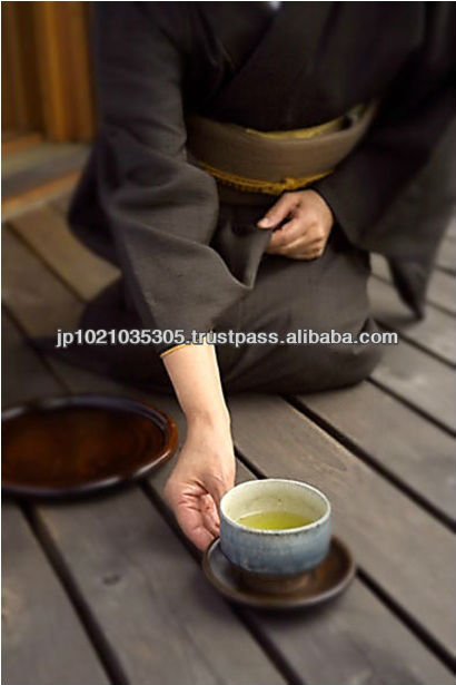 High grade green tea set Shirofuji Sencha made in Japan