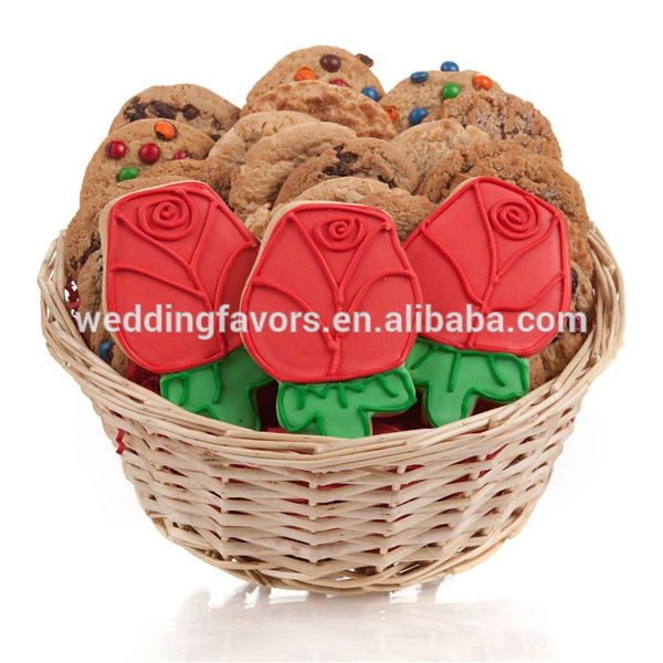 Red rose cookie gift basket products china
